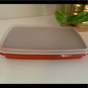 Vintage Tupperware Red Rectangle storage